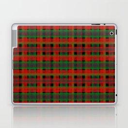 Red, green tartan plaid. Laptop & iPad Skin