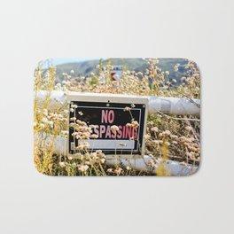 No Trespassing Bath Mat