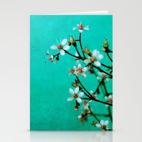 moody florets Stationery Cards