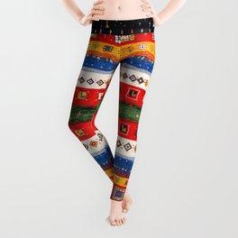 N35 - Bohemain Colored Moroccan Traditional Andalusian Artwork. Leggings