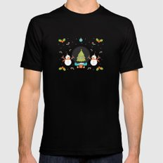 Day 01/25 Advent - Frosty meets his match MEDIUM Mens Fitted Tee Black