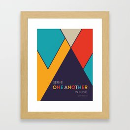 One Another Scripture Poster (Galatians 12) Framed Art Print