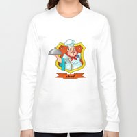 chef Long Sleeve T-shirts featuring chef by Fargon