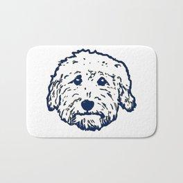 Goldendoodle dog face silhouette - perfect Golden doodle gift idea Bath Mat