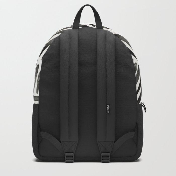 Tropical Banana Leaves – Black Palette Backpack