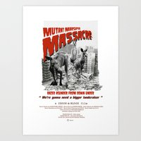 Mutant Marsupial Massacre Art Print
