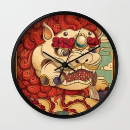Chinese Lion Wall Clock