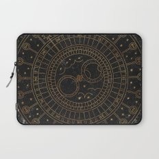 Glaston Abbey Clock Laptop Sleeve