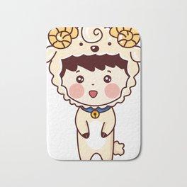Cute Little Girl Bath Mat