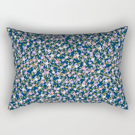Garden Ditzy - Purple Rectangular Pillow