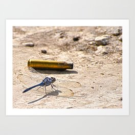 Bullet with Dragonfly wings Art Print