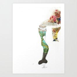 Provocative Leg Art Print