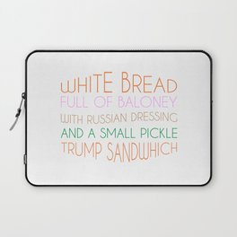 Trump Sandwhich Laptop Sleeve