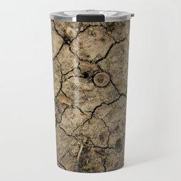 Cracked Winter Soil Travel Mug