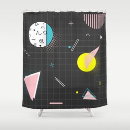 Memphis dark Shower Curtain