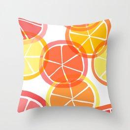 Sumemr Citruses Throw Pillow