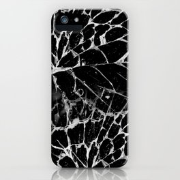 Cracked Black design iPhone Case