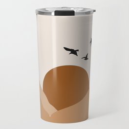 Abstract bird art print boho art wall art print Travel Mug