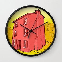 Murano house Wall Clock