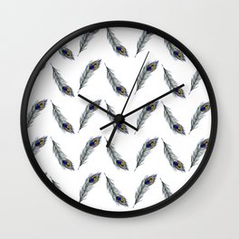 The Peacock's Feather Pattern Wall Clock