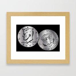US Half Dollar Coin Framed Art Print