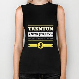 trenton new jersey its where my story begins american t-shirts Biker Tank