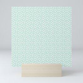 Mint Passion Thalertupfen White Pōlka Round Dots Pattern Pastels Mini Art Print