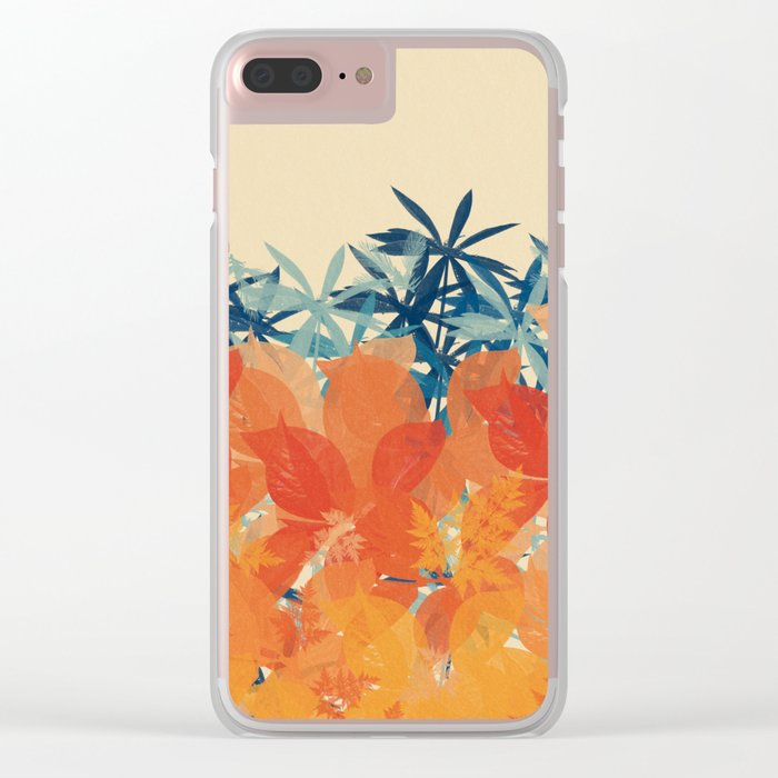 Floral 3 Clear iPhone Case