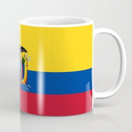 Flag of Ecuador -ecuadorian,Inca,Kichwa,Quito,america, South america,Spanish,Amazonia,latin america Coffee Mug