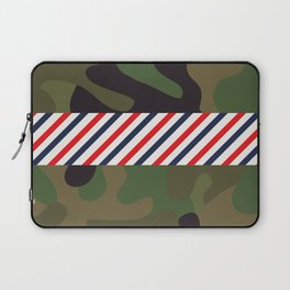 Barber Camo Pattern Laptop Sleeve