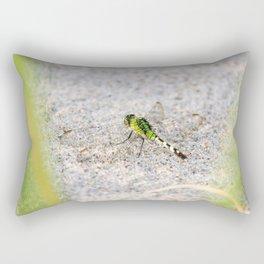 Beach Dragonfly Rectangular Pillow