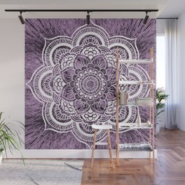 Mandala Grayish Purple Colorburst Wall Mural