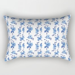 CB x SK BLUE FLORAL Rectangular Pillow