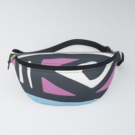 Mid-Century Modern Pink And Blue Abstract 1950's Pattern Fanny Pack
