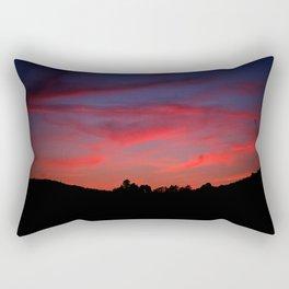 Sunset wooden crane 2, Poland Rectangular Pillow