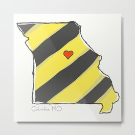 Home Is Where The Heart Is: Columbia, MO Metal Print