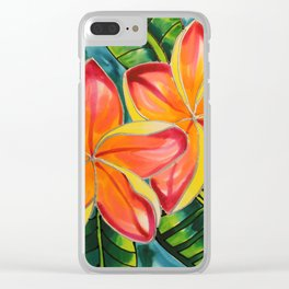 Pink Plumeria of Belize Clear iPhone Case