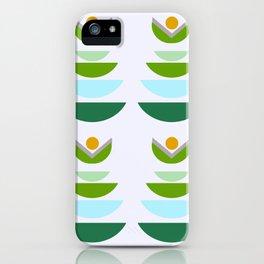Minimal modern flowers iPhone Case