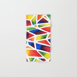 Rainbow Stained Glass Hand & Bath Towel