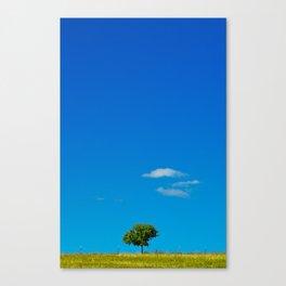 Simple Blue Sky Gradient Landscape Canvas Print
