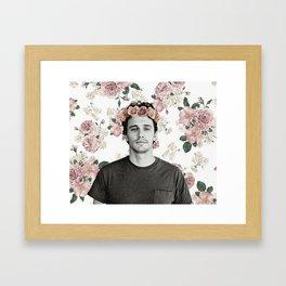James Franco Rose Flower Crown Tumblr-Esque Framed Art Print