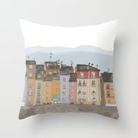 cityscape Throw Pillows featuring Cityscape by Paint Your Idea