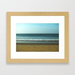 OM BEACH Framed Art Print
