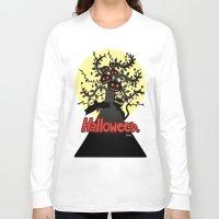 halloween Long Sleeve T-shirts featuring Halloween by BATKEI
