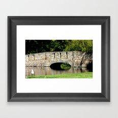 Bridge over Pond Framed Art Print