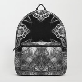 Black and white kaleidoscope pattern Backpack