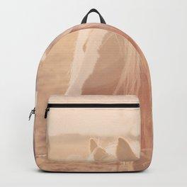 Horse in Springtime Sun Backpack