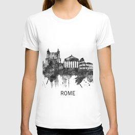 Rome Italy Skyline BW T-shirt