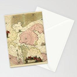 Map Of Newfoundland 1675 Stationery Cards