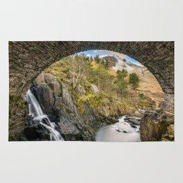 Pont Pen y Benglog Bridge Snowdonia Rug